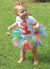 Beach Ball Birthday Onesie and Tutu set