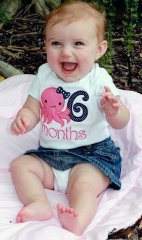 Girl Octopus 6 month Evey