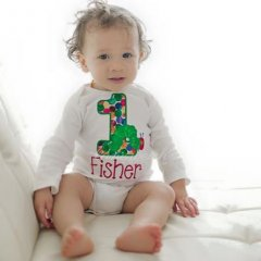 Hungry Caterpillar Birthday Applique Fisher