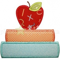 apple_and_books_applique
