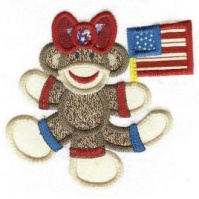 flag_girl_patriotic_sock_monkeys