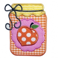 peach_preserves_kitchen_towel_close_up