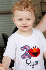 Elmo 2 Birthday Applique Ryan