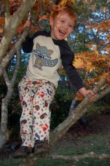 Forest Animal Pants featured with Raccoon Applique SKU 750071
