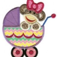 carriage_girl_baby_sock_monkey