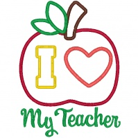 i_love_my_teacher_apple_design