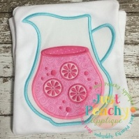 lemonade_pitcher_clear_vinyl_just_peachy_applique_design