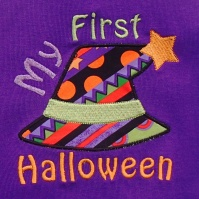 my_first_halloween_witch_hat_shirt_close_up