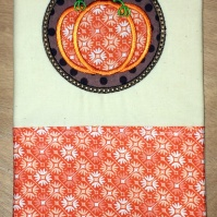 pumpkin_circle_kitchen_towel